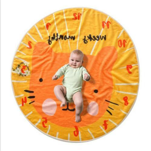 95*95cm Soft Round Baby Best Monthly Gift