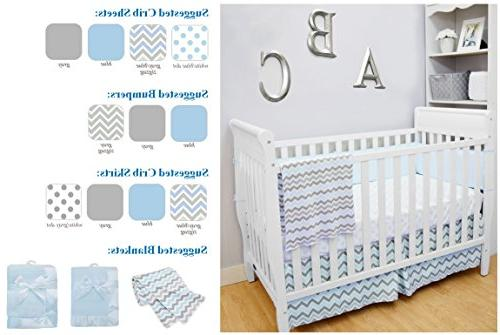 American Baby Blanket 30 with 2 Trim, Blue, Boys and Girls