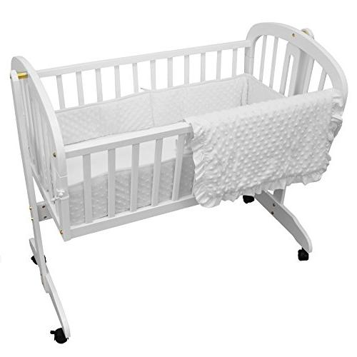 American Baby Company Heavenly Soft Minky Dot 3-Piece Cradle