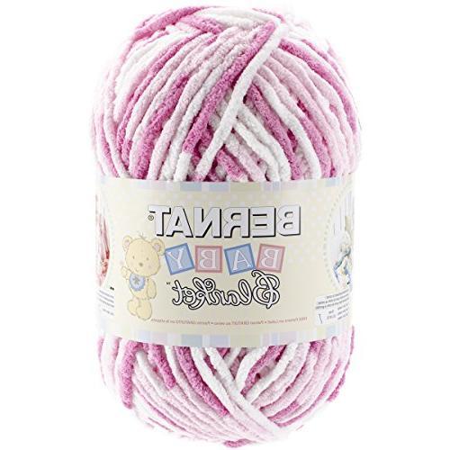 Bulk Buy: Bernat Baby Blanket Big Ball Yarn  Pink Dreams 161