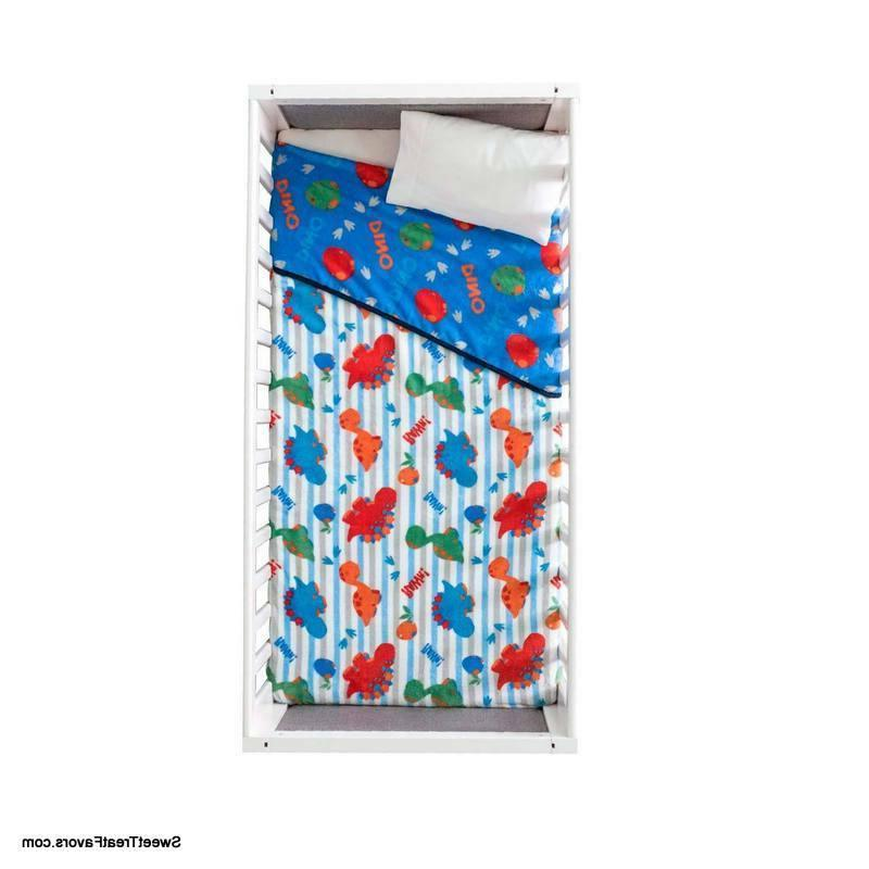 Dino Comforter FLEECE Throw Soft Gift Baby Blue 1PC