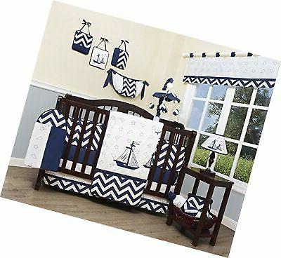 GEENNY Baby Nautical Explorer 13 Piece Nursery Crib Bedding