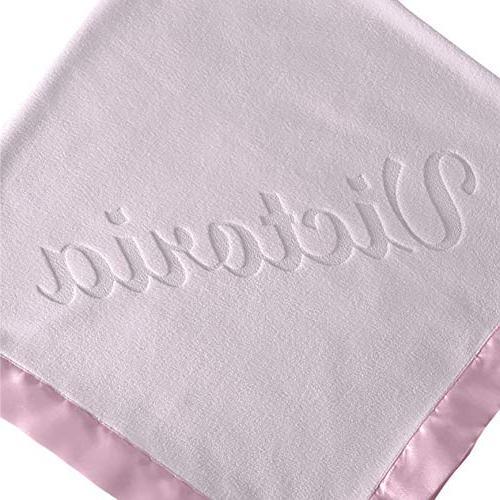 Large Baby Blanket - 36x36 Satin Trim, Fleece