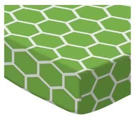 SheetWorld Fitted Cradle Sheet - Citrus Honeycomb - Made In