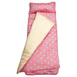SoHo, Baby/Infant Nap Mat, Classic Pink Aqua Polka Dot