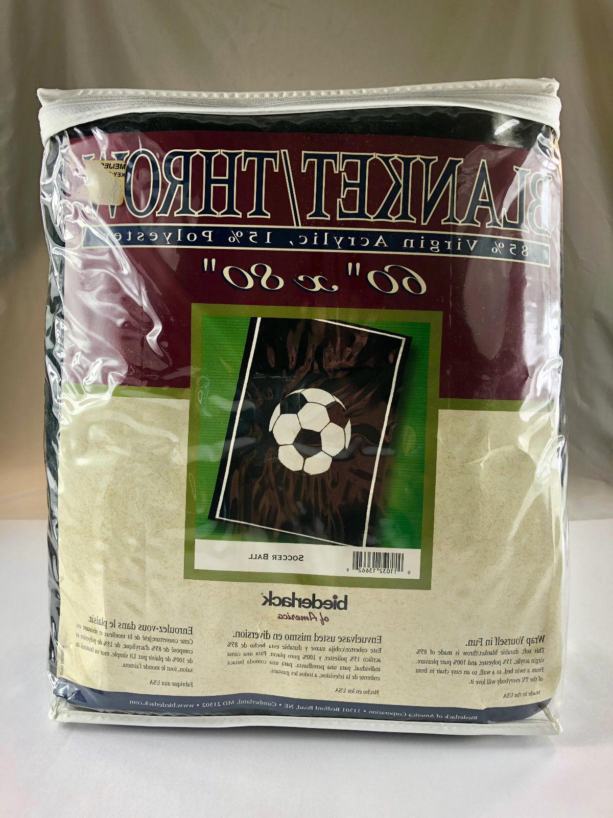 "Soccer Blanket / Throw  60"" x 80"""