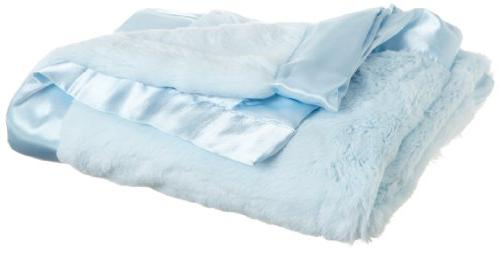 Spasilk Baby-boys 2 Ply Receiving Blanket Elephant Print, Bl