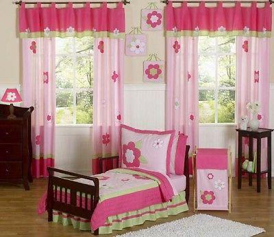 Sweet Jojo Designs 5-Piece Pink and Green Flower Collection