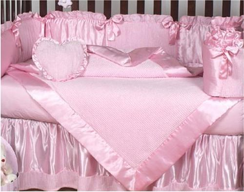 Sweet Jojo Pink and Baby Crib Set