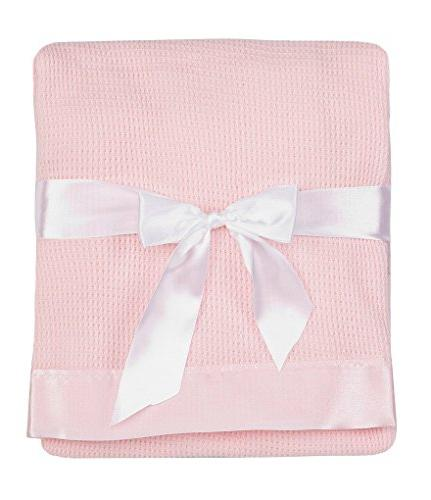 Thermal Waffle Baby Blanket with Trim