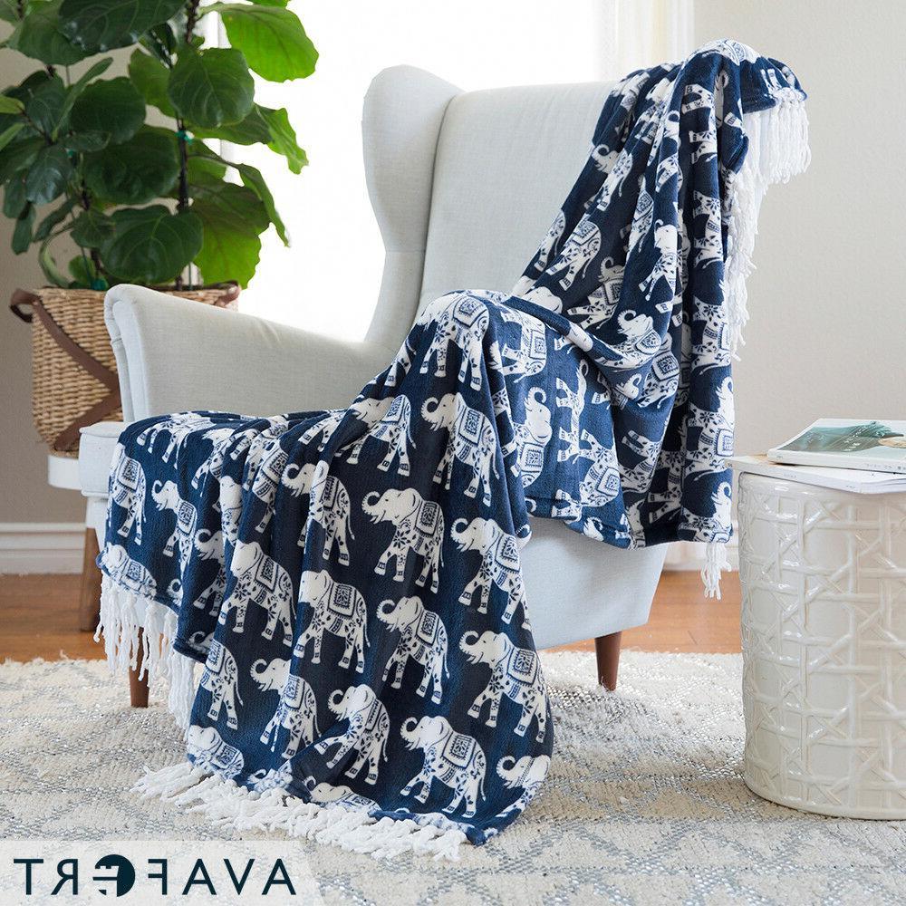 Velvet Plush Print Blanket Throw Elephant Free Shipping 3 co