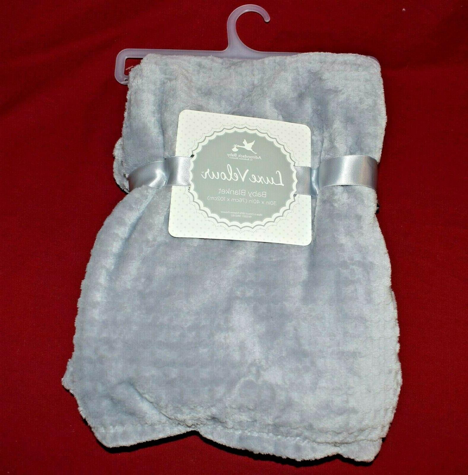 "Adirondack Baby Velour Soft x 40"" Blanket Gray"