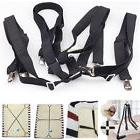 Adjustable Crisscross Bed/Fitted Sheet Straps Suspenders Gri