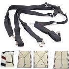 Adjustable Suspenders Gripper/Holder/Fastener Crisscross Bed