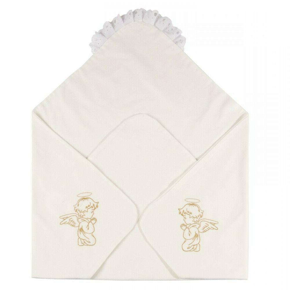 angel embroidery christening baby linen baptism 37x37