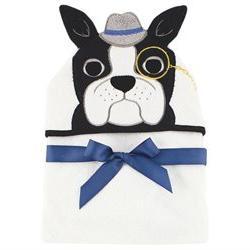 Hudson Baby Boys Animal Face Hooded Towel - Bull Dog