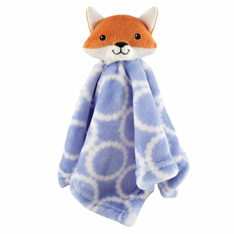 Hudson Baby Animal Friend Plushy Security Blanket, Blue Fox
