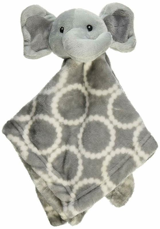 Hudson Baby Plushy Security Blanket, Gray Elephant