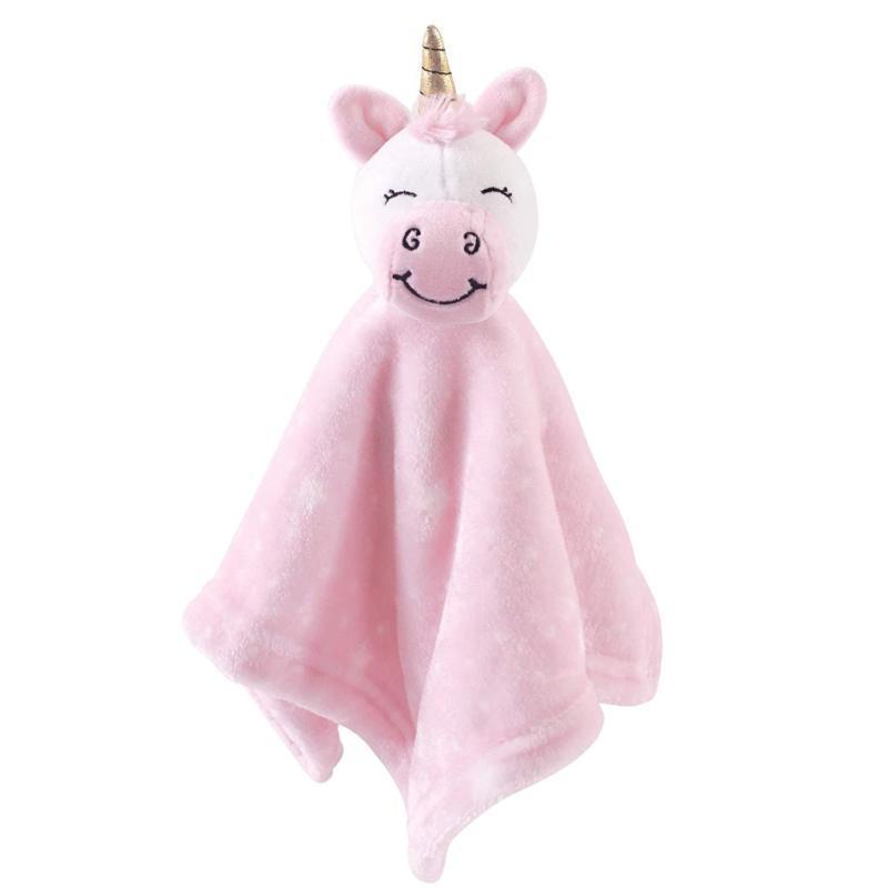 animal friend plushy security blanket pink unicorn