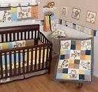 Sumersault Animal Patch 8Pc Baby Crib Bedding Set Monkey Fro