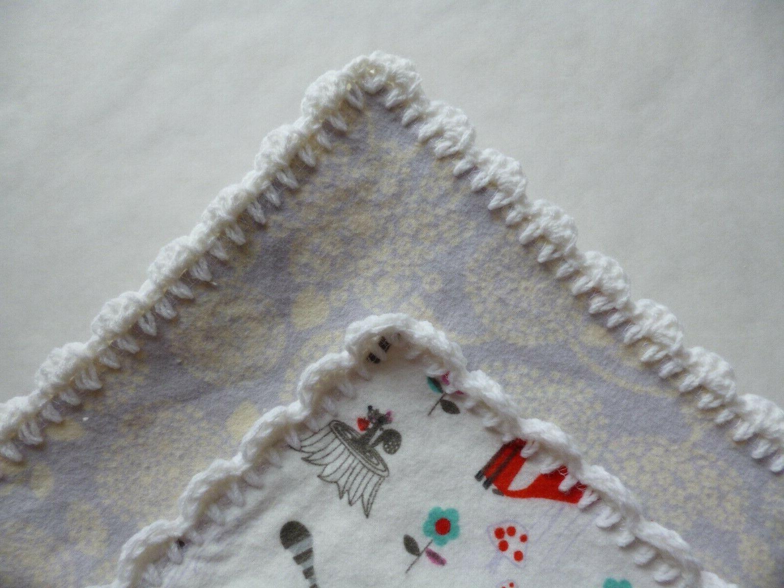 AnimalsUnisexBaby Blanket Hand Crochet EdgeFree Shipping