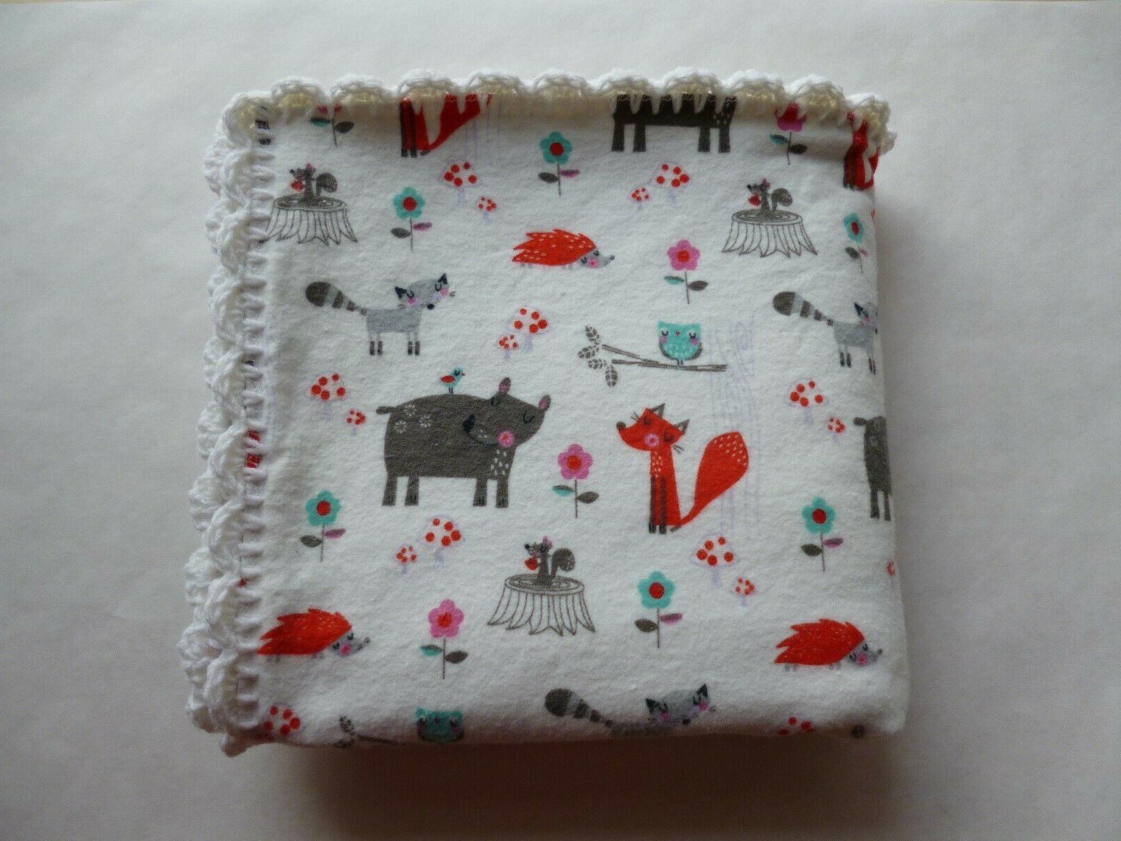 AnimalsUnisexBaby Receiving Crochet EdgeFree