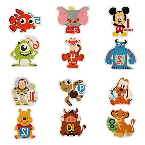 Disney Baby Character Prop Belly Stickers, 12 Sticker Gift