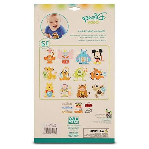Disney Assorted Character Monthly Milestone Prop Stickers, Sticker Gift