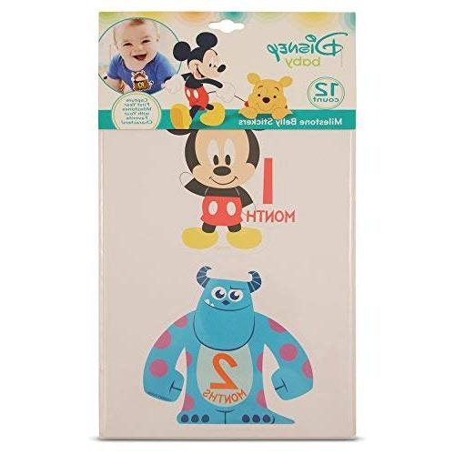Disney Character Monthly Prop Belly Sticker Gift Set,