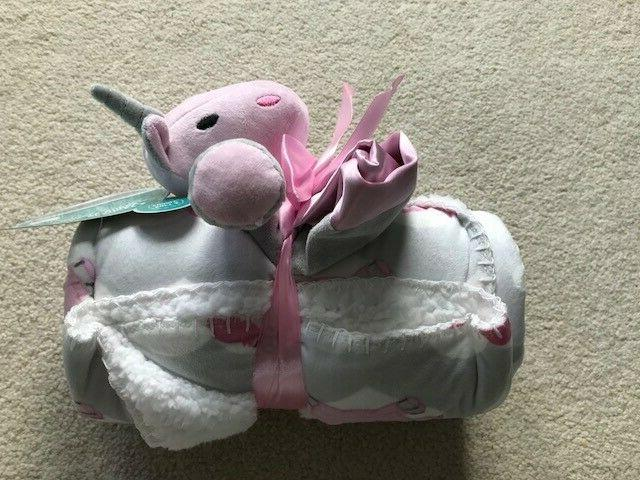 Baby Blanket & Unicorn Security Cuddle Buddy LITTLE JOURNEY