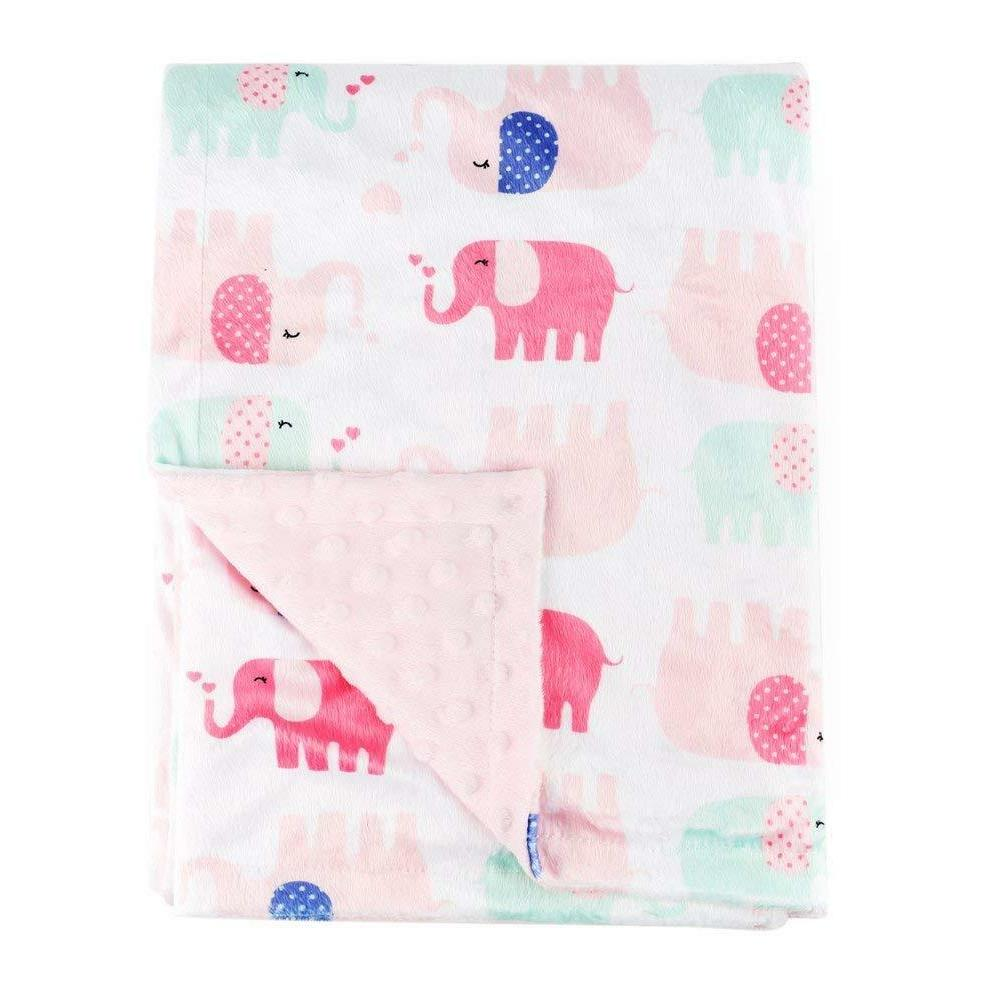 baby blanket crib quilt soft minky double