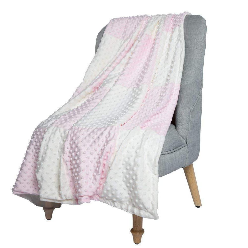 baby blanket crib quilt with minky raised