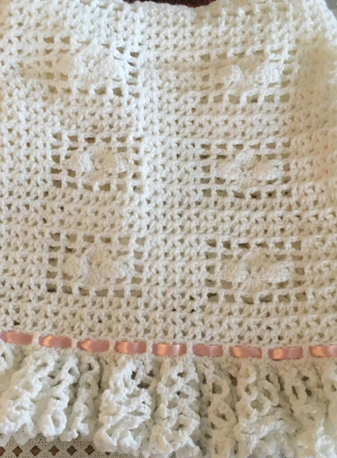 Baby Blanket Crochet Baptism YOU CHOOSE