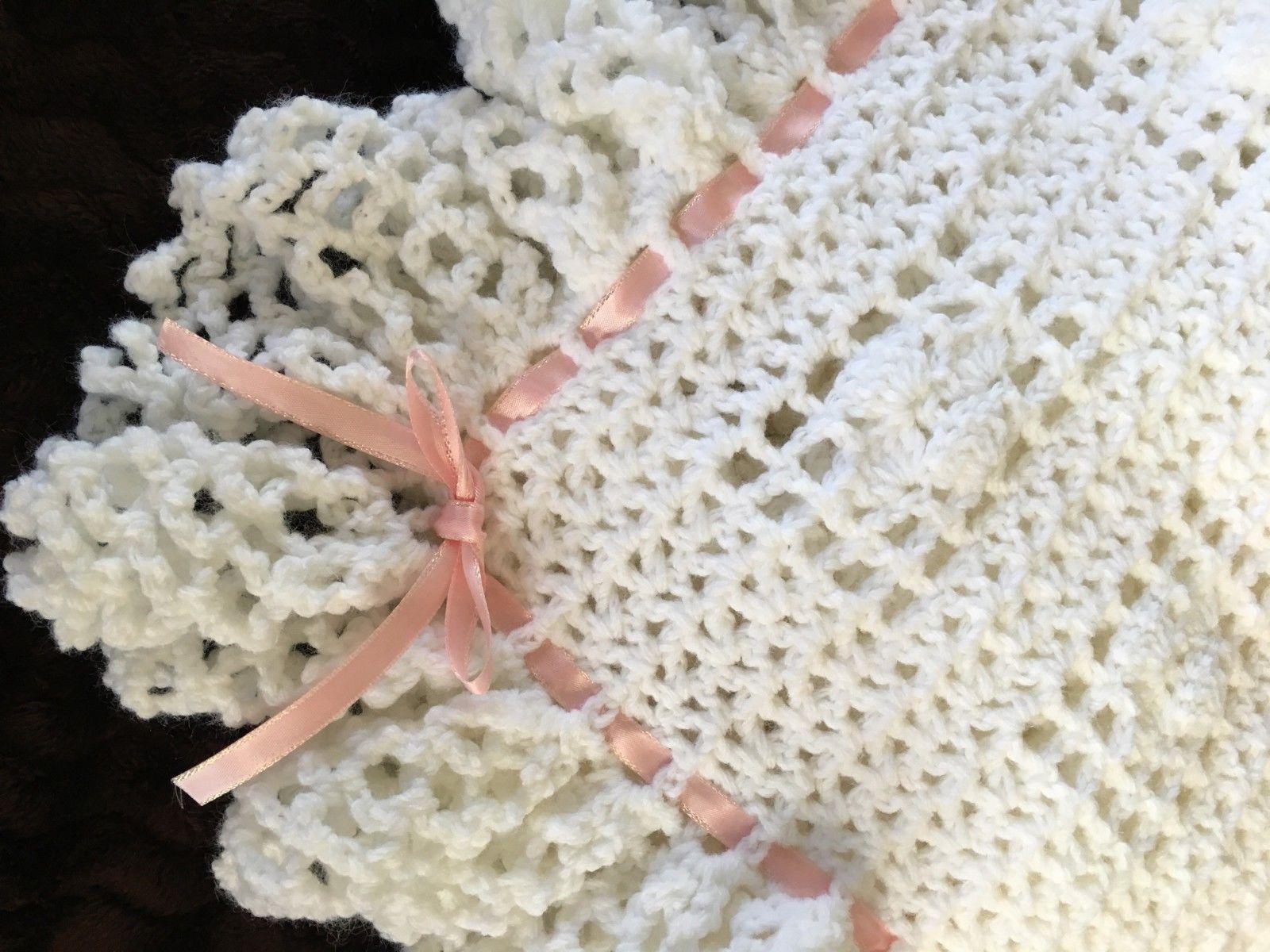 Baby Crochet Baptism Christening CHOOSE COLOR