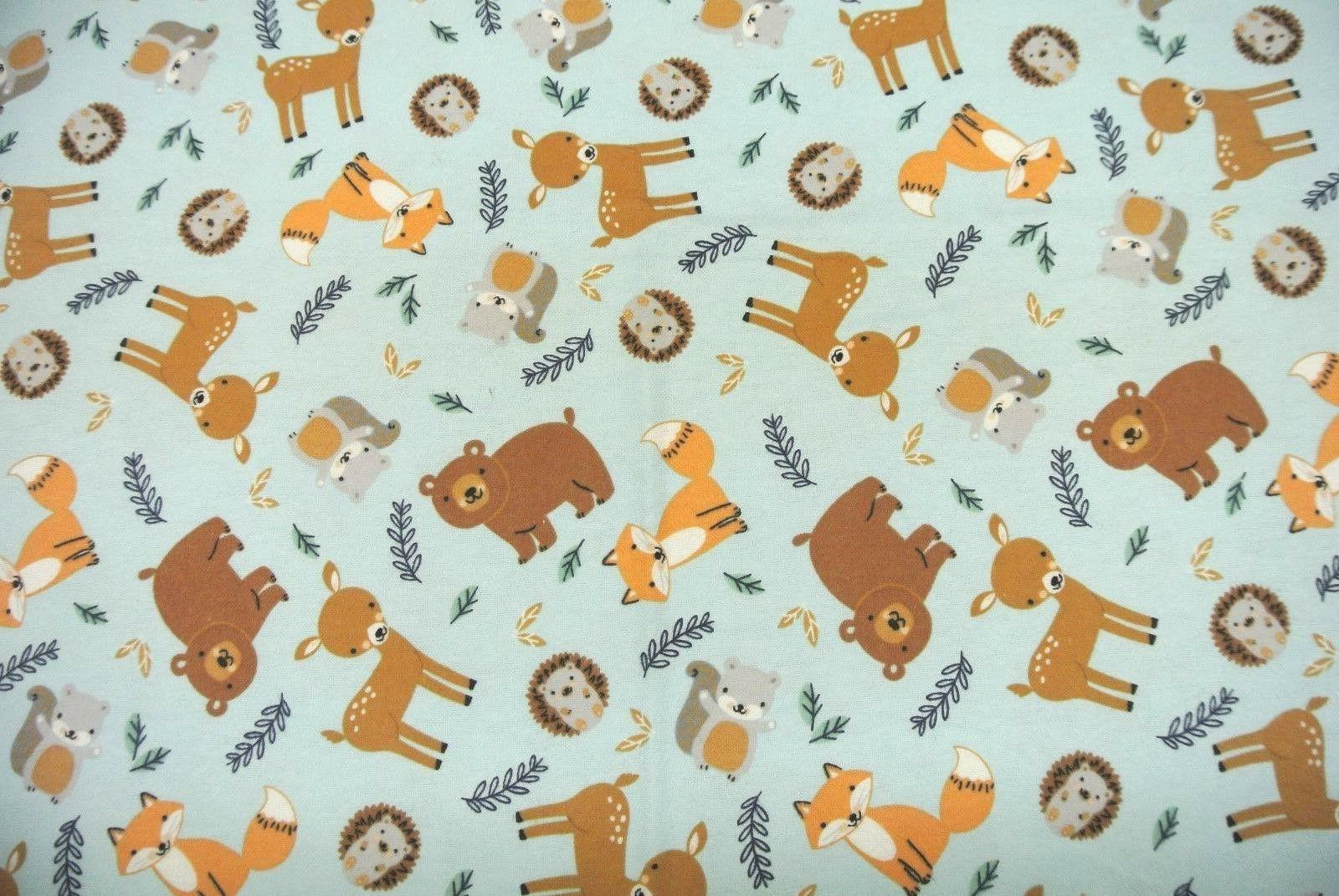 Baby Blanket Foxes Hedgehogs Squirrels Bears Be Personalized 36x40