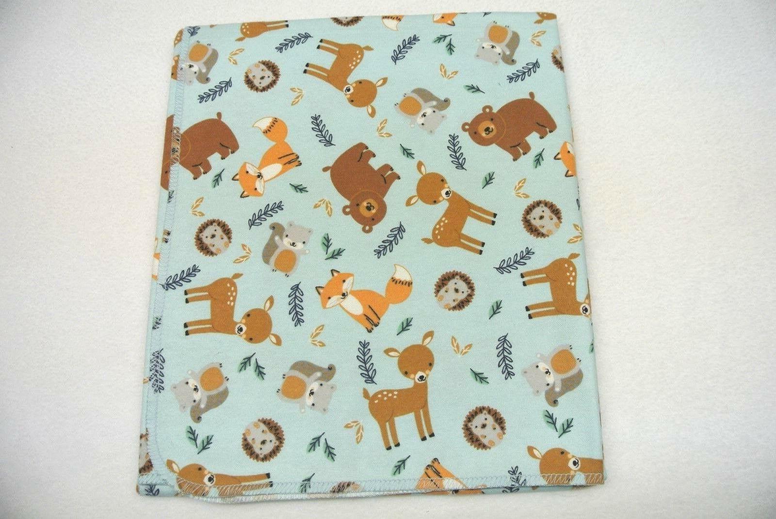 baby blanket deer foxes hedgehogs squirrels bears