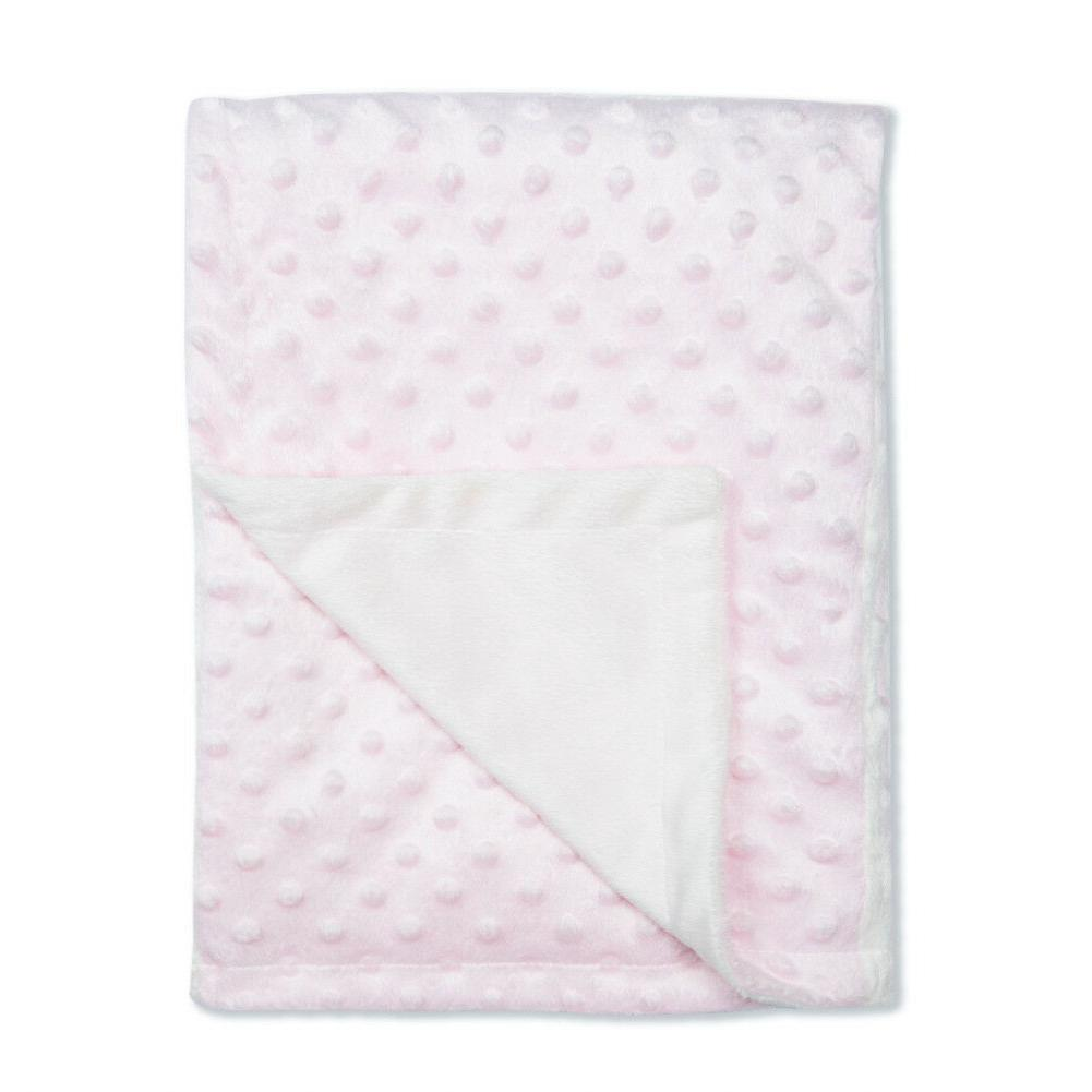 Baby Blanket for Boy Soft Minky with Double Layer Dotted Bac