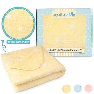 baby blanket for girls boys toddler soft
