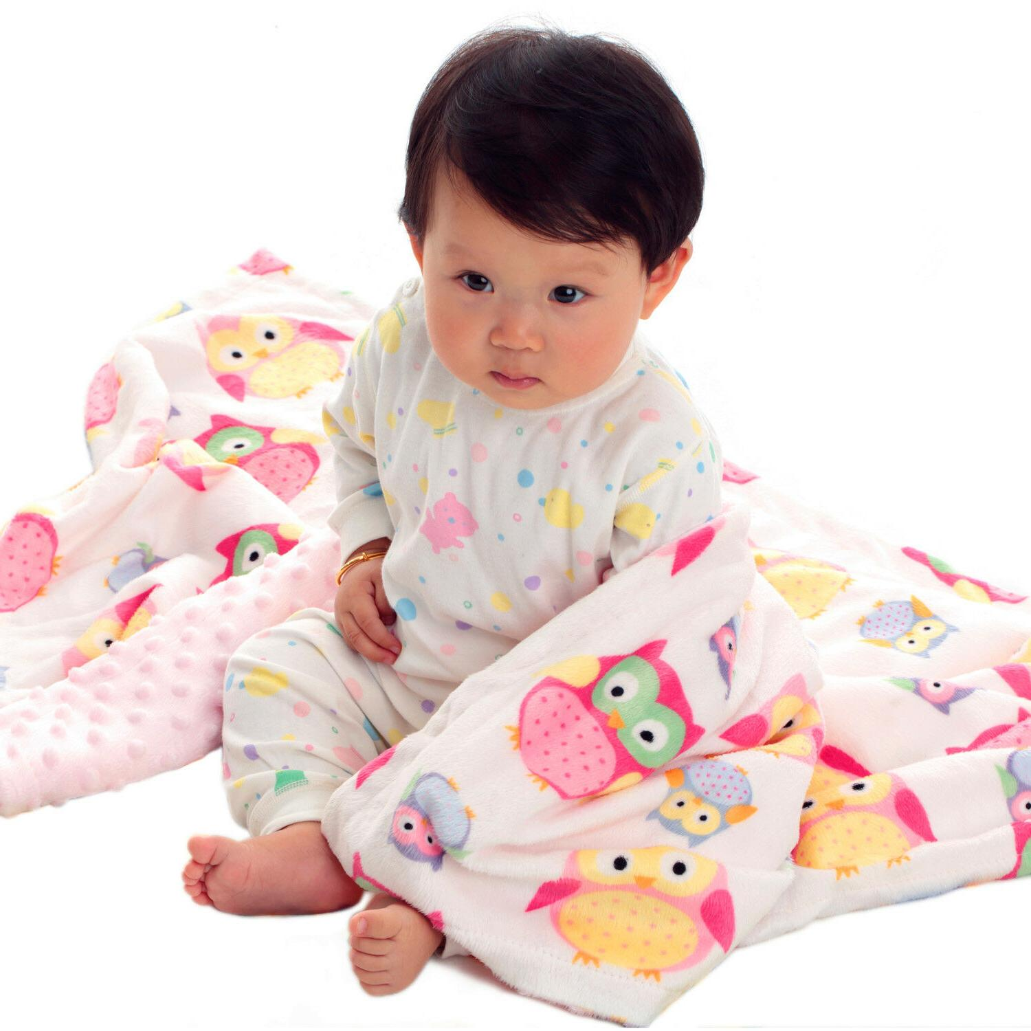 """Baby Blanket Soft with Layer Backing Pink 30""""x40"""""""