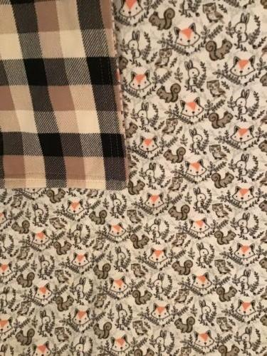 Baby Blanket Foxes, Squirrels, Rabbits, Owls Cotton Flannel