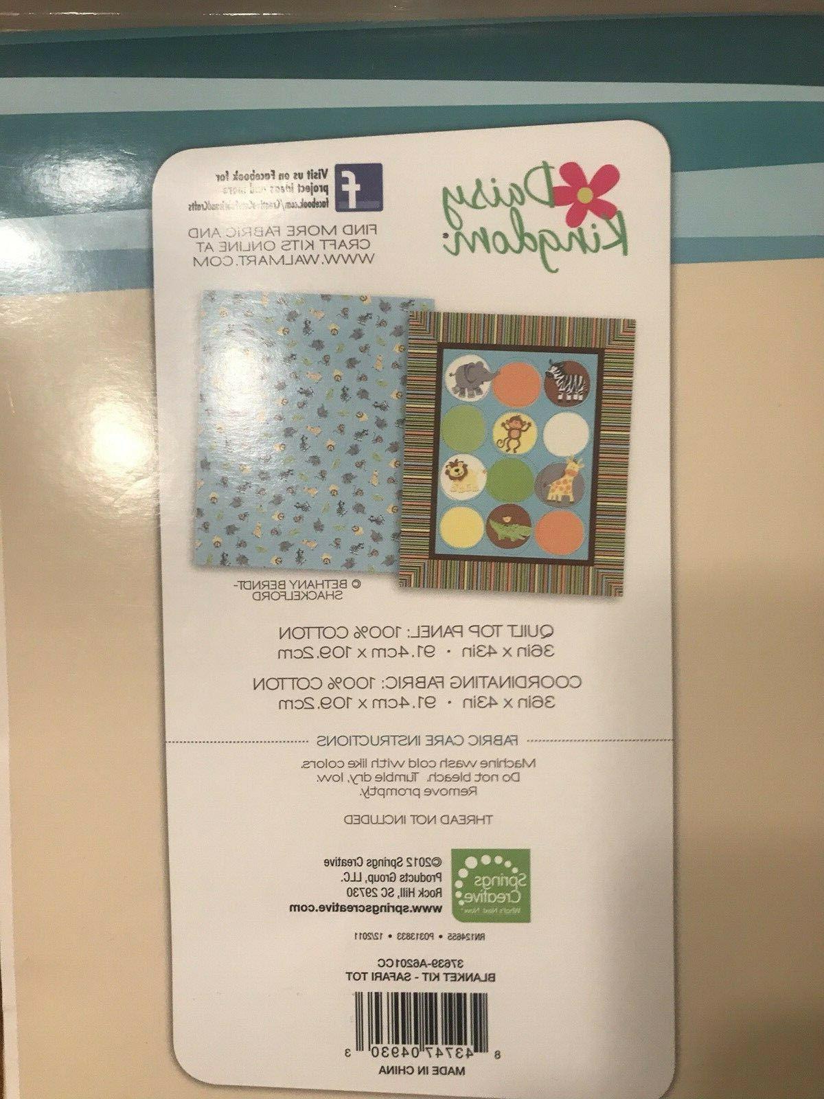 Baby Blanket - Cut & Sew - to Follow Instructions- Safari