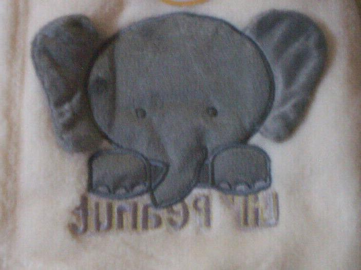 """Baby Elephant Design By Baby, x 40"""", Off-White"""
