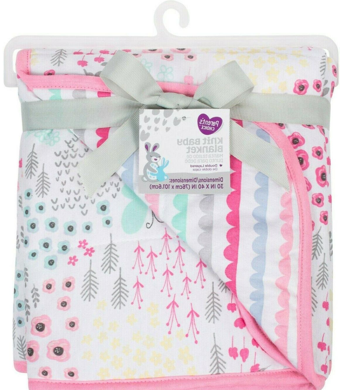 baby blanket pink parents choice knit baby