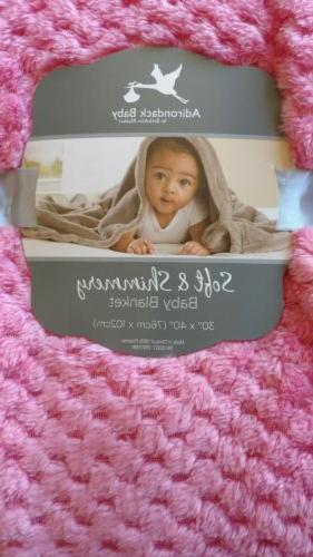 ADIRONDACK Blanket and Shimmery Dark Infant Lovey Girls NIP