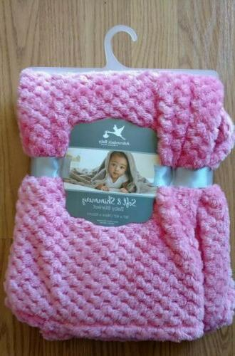 baby blanket soft and shimmery dark pink