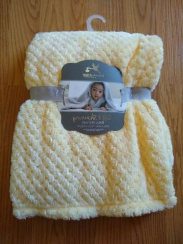 baby blanket soft and shimmery yellow infant