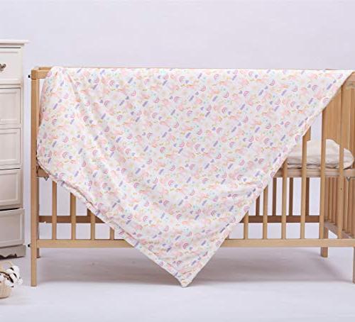 "Baby Blanket Super Soft Unicorn 32""x43"" Toddlers, Plush Double Fleece for Baby Girls"
