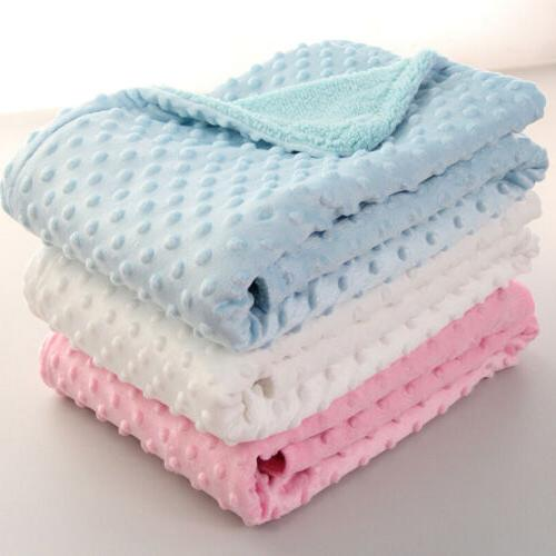baby blanket swaddling infant thermal soft beans