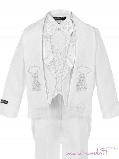 Baby Boy Baptism/scarf Suit/6 to 7>Silver Embroide
