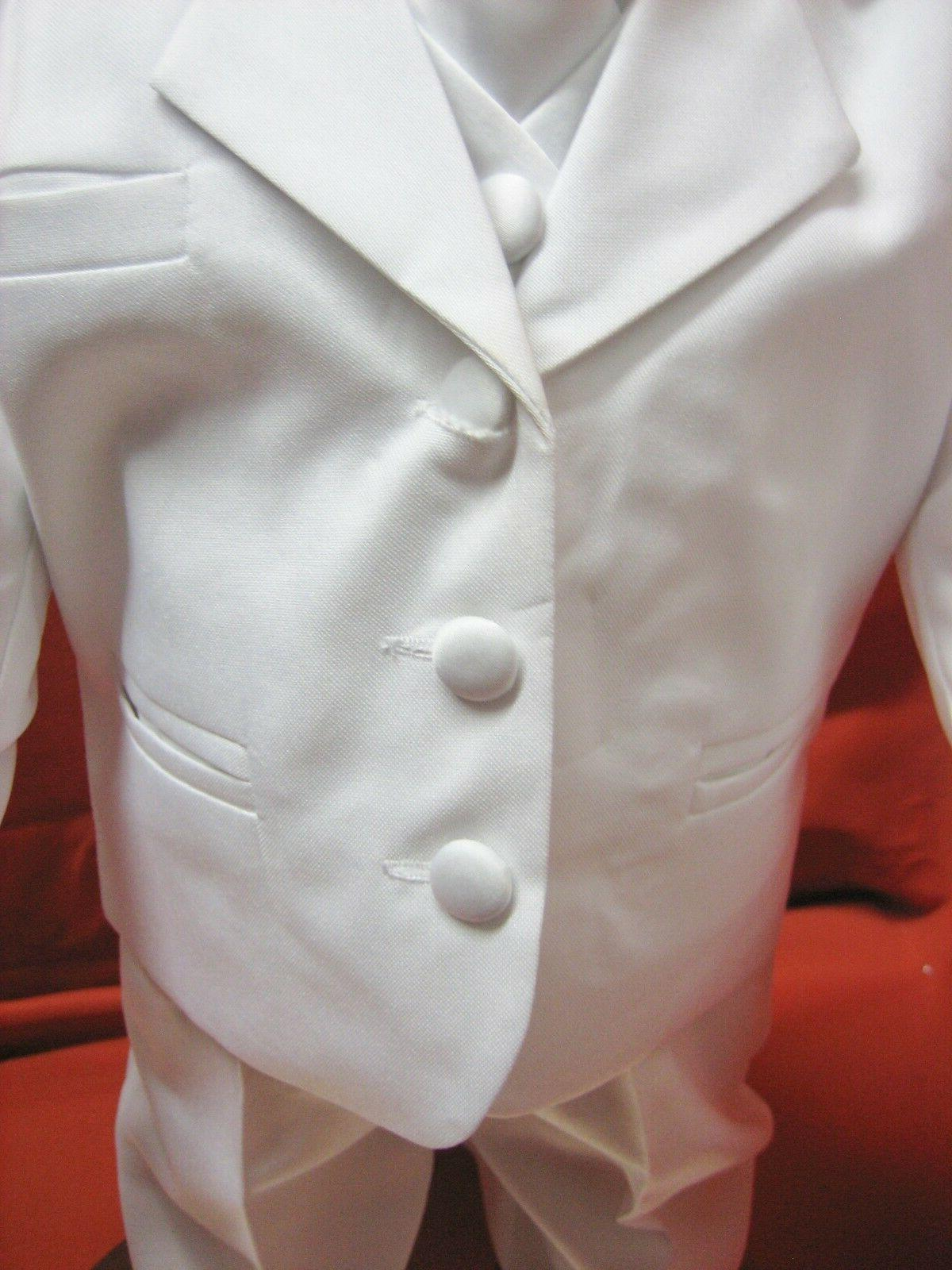 Baby white Suit/Wedding/Tie Outfit/Sizes:XS-4T